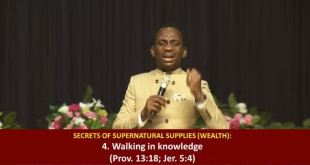 SEEDS OF DESTINY 13TH JUNE 2020 -THE IMPLICATION OF THE ESTABLISHMENT OF THE WILL OF GOD