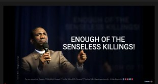 ENOUGH IS ENOUGH: ENOUGH OF SENSELESS KILLINGS IN NIGERIA- DR PASTOR PAUL ENENCHE