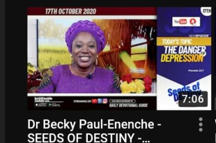 Dr Becky Paul-Enenche - SEEDS OF DESTINY - SATURDAY OCTOBER 17, 2020