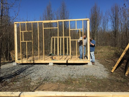 Front Wall up 2-27-16