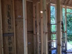 Tiny cabin back wall