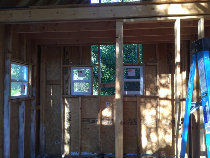 Tiny Cabin Inside with partial outside wall