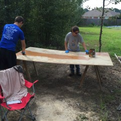 Staining the siding 2