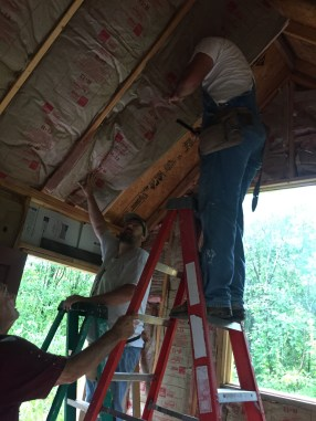 Tiny Cabin Ceiling Insulation