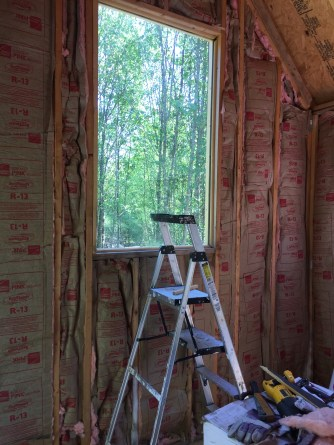 Tiny Cabin Insulation Living Room