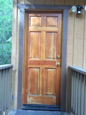 Before - weathered natural wood