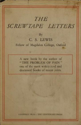 The Screwtape Letters Front Cover