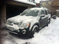 Snow Covered Car (After)