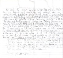 A letter from a child