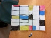 Student Mondrian Art