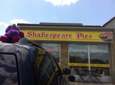 George at the Shakespeare Pie store