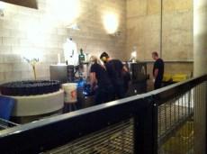 At Jackson-Triggs bottling Sparkling Wine