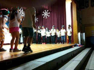 Students dancing Jai Ho