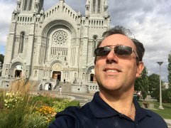 In front of Basilica of Sainte-Anne-de-Beaupré