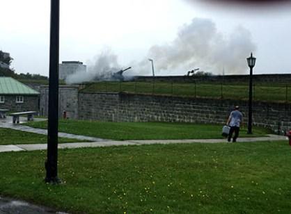 The Citadel 1200 canon firing.