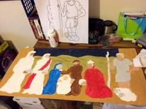 Painting The Nativity Scene