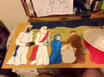 Painting The Nativity Scene - Adding details