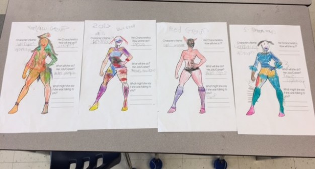 Female hero created by a group of students