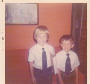 My brother John and I