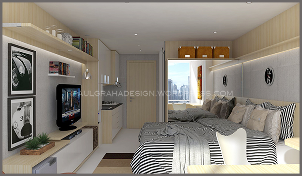 Design interior apartment type studio  Paulgraha Design