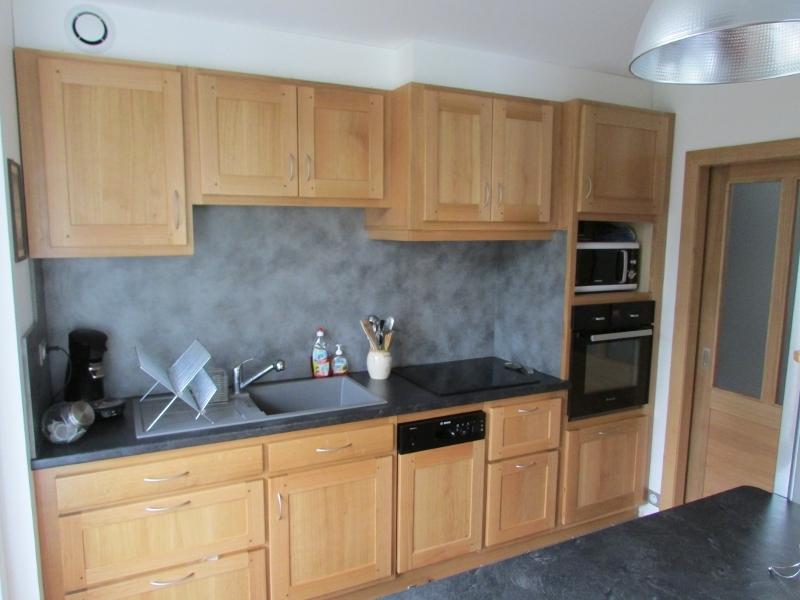 Cuisine bois et gris cuisine caradec mod 232 le l 233 a moderne full size cuisine blanche de for Plan de travail chene clair