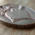 'Heart & Arrow' Love token-coin carving (1978 French 10 Francs coin) 5
