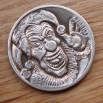 'Joker's Wild' Hobo nickel 2c