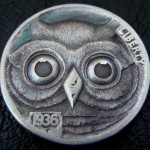 'Owl' Hobo nickel carving 1aa
