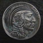 'The Brave Knight' Hobo nickel 1c