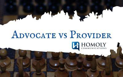 Advocate vs Provider