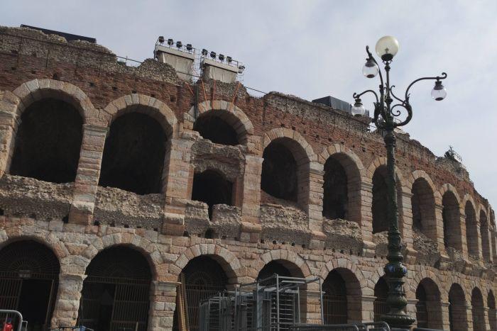 Die Arena in Verona ...