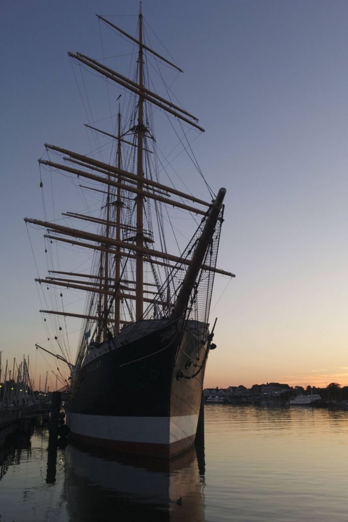 Die Passat im Hafen von Travemünde - als Museumsschiff einen Besuch wert
