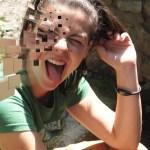 Yo con la cara hecha cuadrados