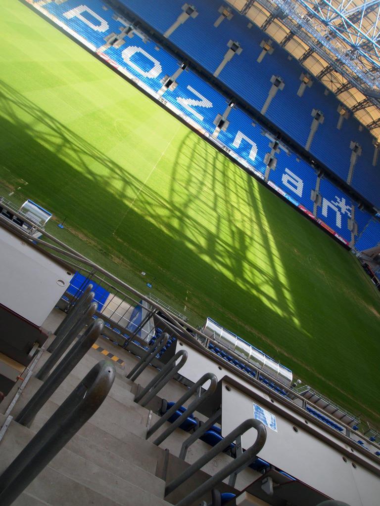 Zona de juego del campo de fútbol del Lech Poznan