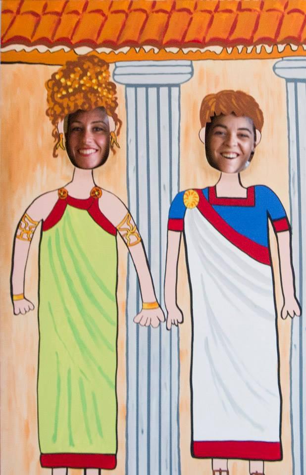 Virginia y yo vestidas de romanas en Segovia