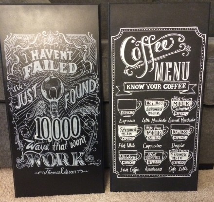 Edison and Coffee Menu Signs