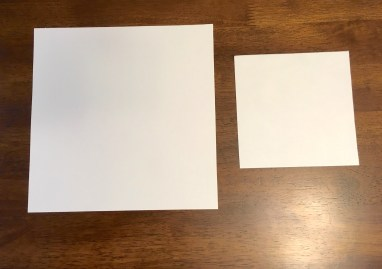 Cut different sized squares