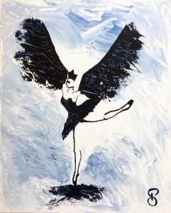 Black Bird Attraction - Peinture Acrylique