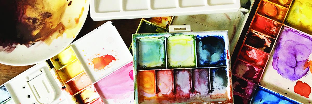 Palettes couleurs aquarelle