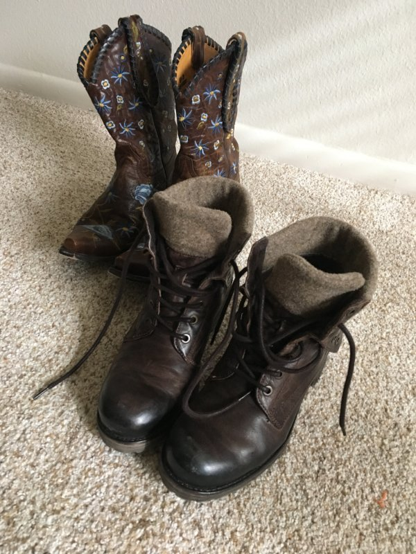 cowboy boots and other boots