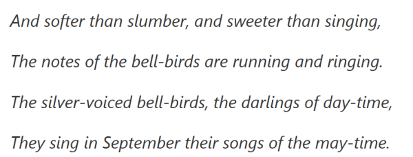 Lines on the bellbird by Henry Kendall