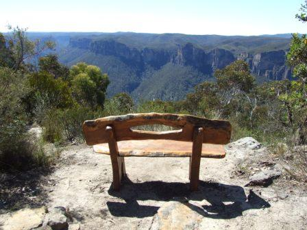 Seat overlooking Grosse Valley Blackhath