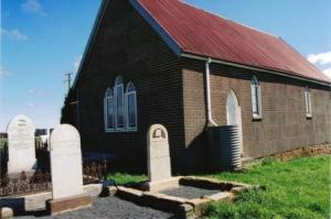 George Shadbolt's grave next to Sassafras church