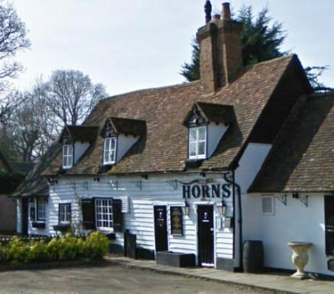 The Horns pub, Solomon's local.
