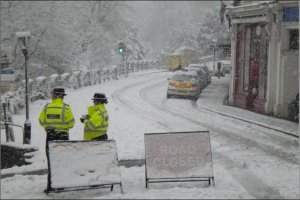 The atrocious weather conditions in Malvern! Oh my word!!