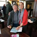 Signing a copy of The Water Doctor's Daughters for Rita.