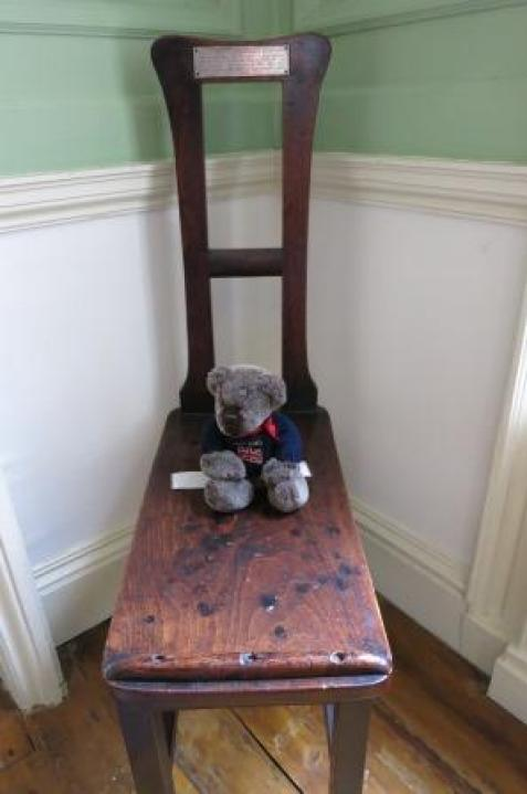 Here I am on the special chair!
