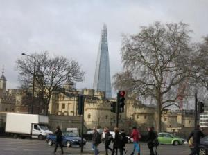 The Tower of London contrasts wonderfully with The Shard!