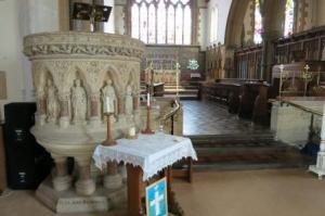 Pulpit dedicated to the memory of the Rev. John Rashdall.