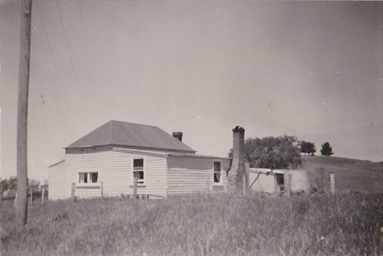 The old homestead circa 195. Then a very humble abode.